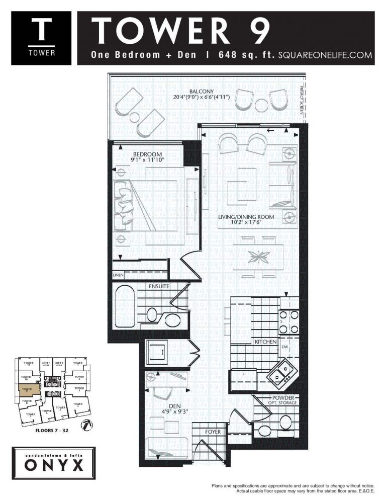 223-Webb-Dr-Onyx-Condo-Floorplan-Tower-9-1-Bed-1-Den-2-Bath