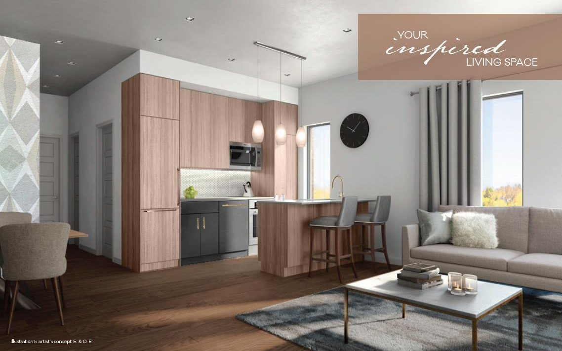 The Clarkson Urban Towns-2200 Bromsgrove Rd-Kitchen+Living Room