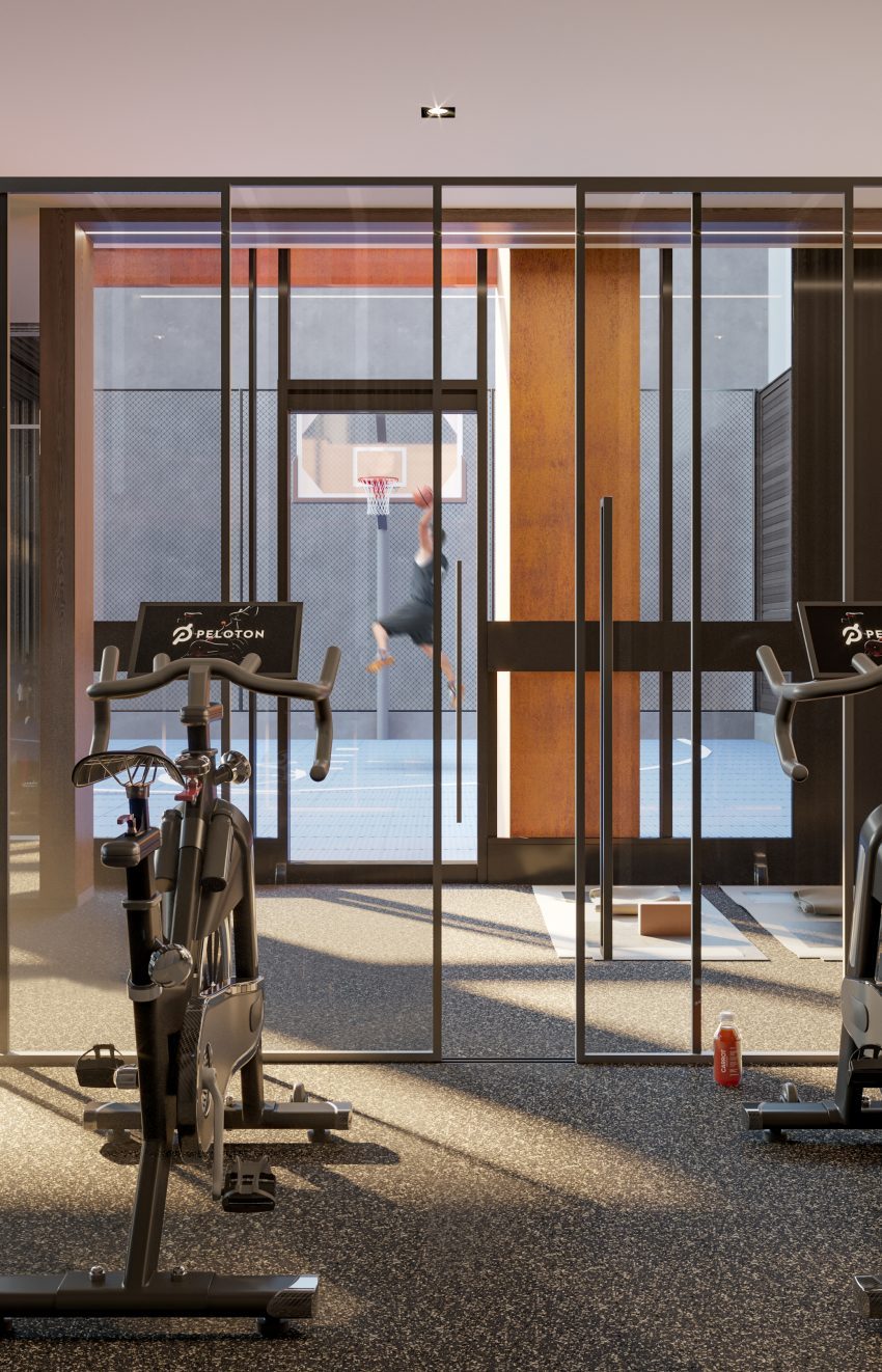 55-mercer-condos-for-sale-99-blue-jays-way-peloton-bikes-gym