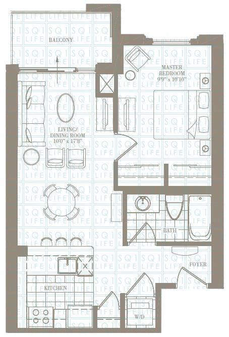 1-Bed-1-Bath-The-Morgan-600-sqft