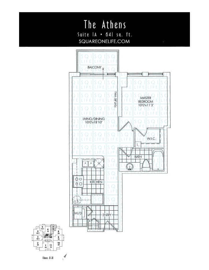 388-Prince-Of-Wales-Dr-One-Park-Tower-Condo-Floorplan-The-Athens-1-Bed-1-Bath
