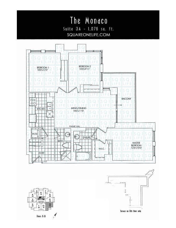 388-Prince-Of-Wales-Dr-One-Park-Tower-Condo-Floorplan-The-Monaco-3-Bed-2-Bath