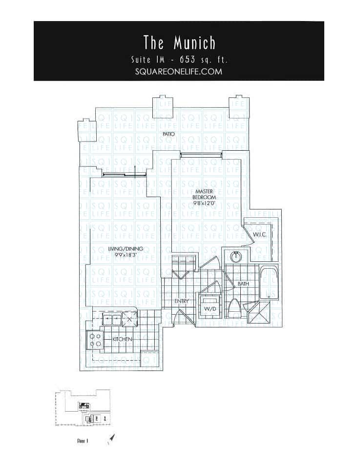 388-Prince-Of-Wales-Dr-One-Park-Tower-Condo-Floorplan-The-Munich-1-Bed-1-Bath