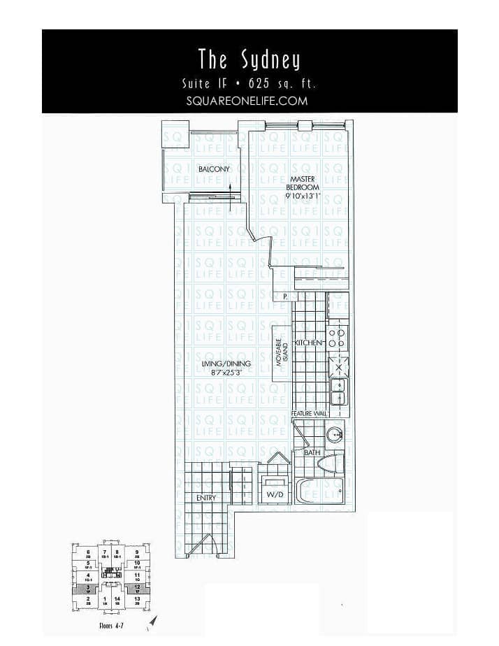 388-Prince-Of-Wales-Dr-One-Park-Tower-Condo-Floorplan-The-Sydney-1-Bed-1-Bath