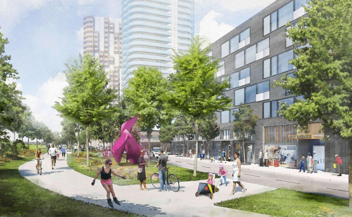 cloverdale-mall-redevelopment-etobicoke-condos-parks
