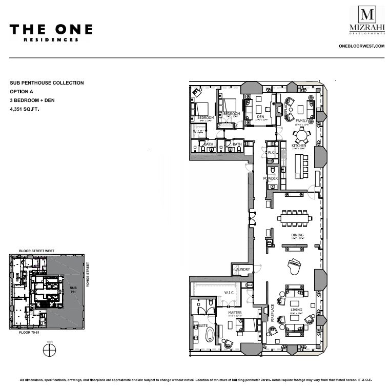 Option A - 3B+D - 4351 Sqft - Sub Penthouse Collection - The One