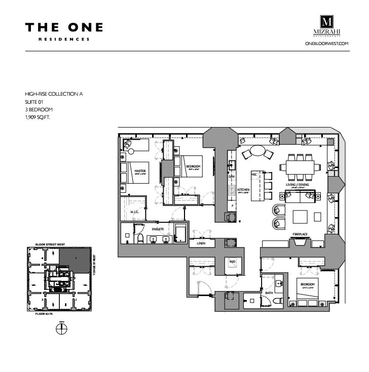 Suite 01 - 3B - 1909 Sqft - Hi-Rise Collection A - The One