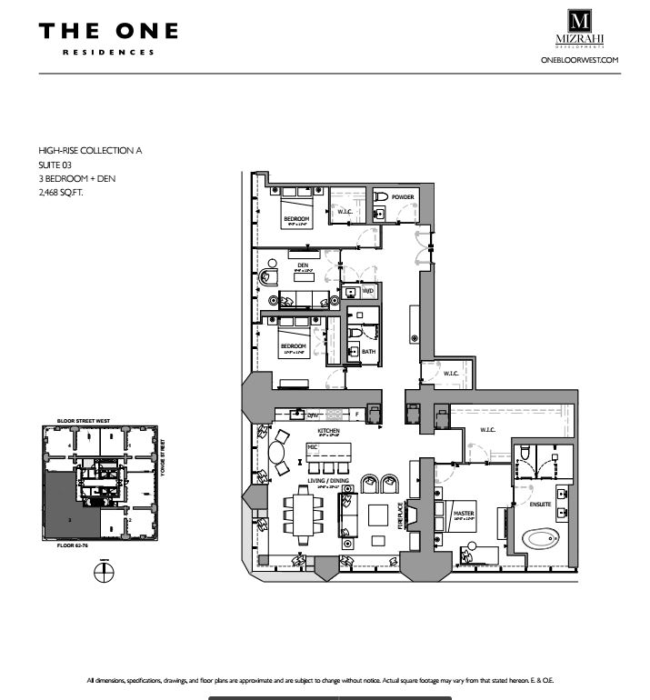 Suite 03 - 3B+D - 2468 Sqft - Hi-Rise Collection A - The One