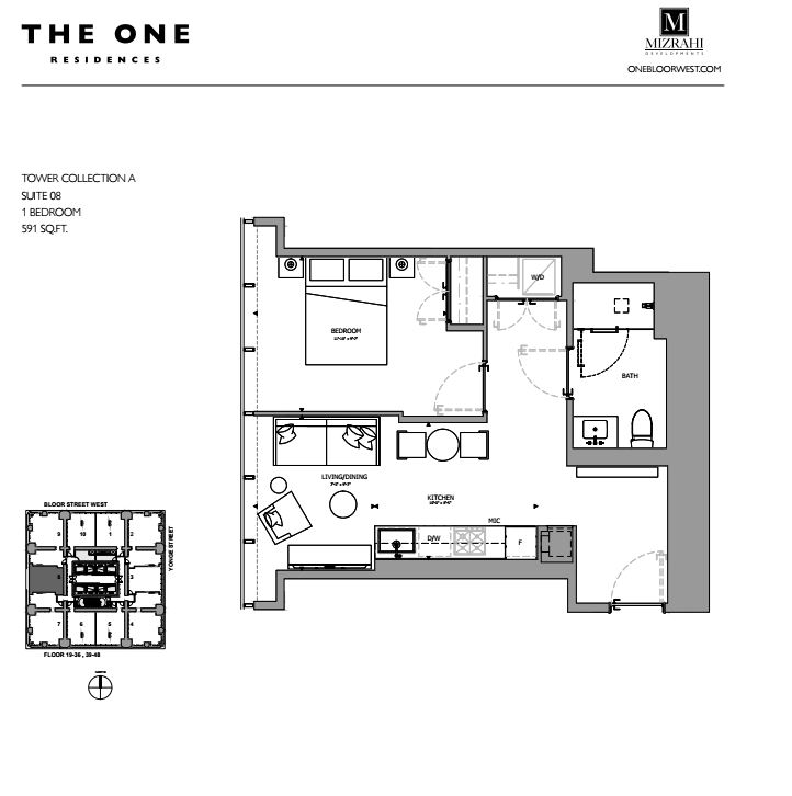 Suite 08 - 1B - 591 Sqft - Tower Collection A - The One