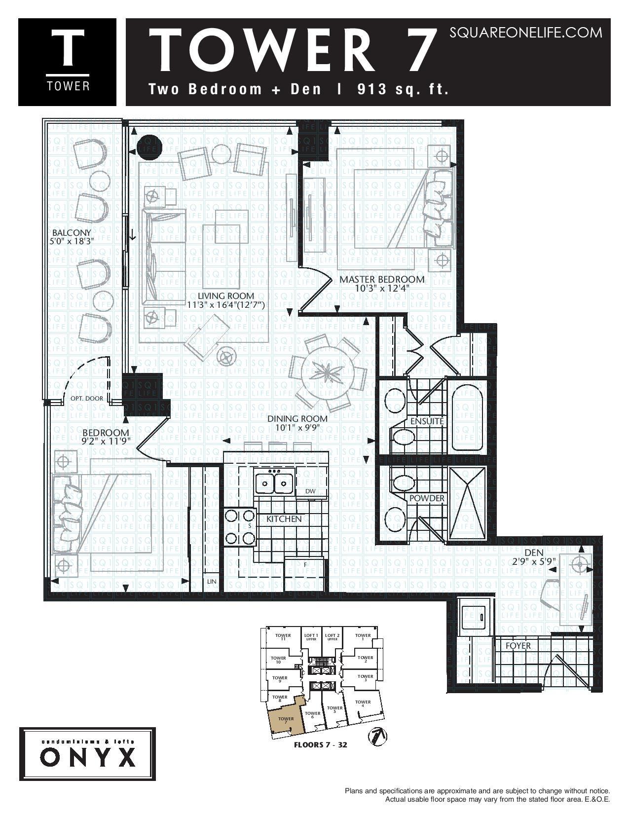 Builder Floorplan - 1909 - 223 Webb Dr - Mississauga