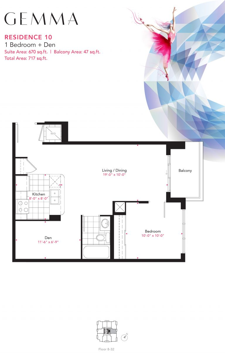 Residence 10 - 1B+D - 670 Sqft - Gemma