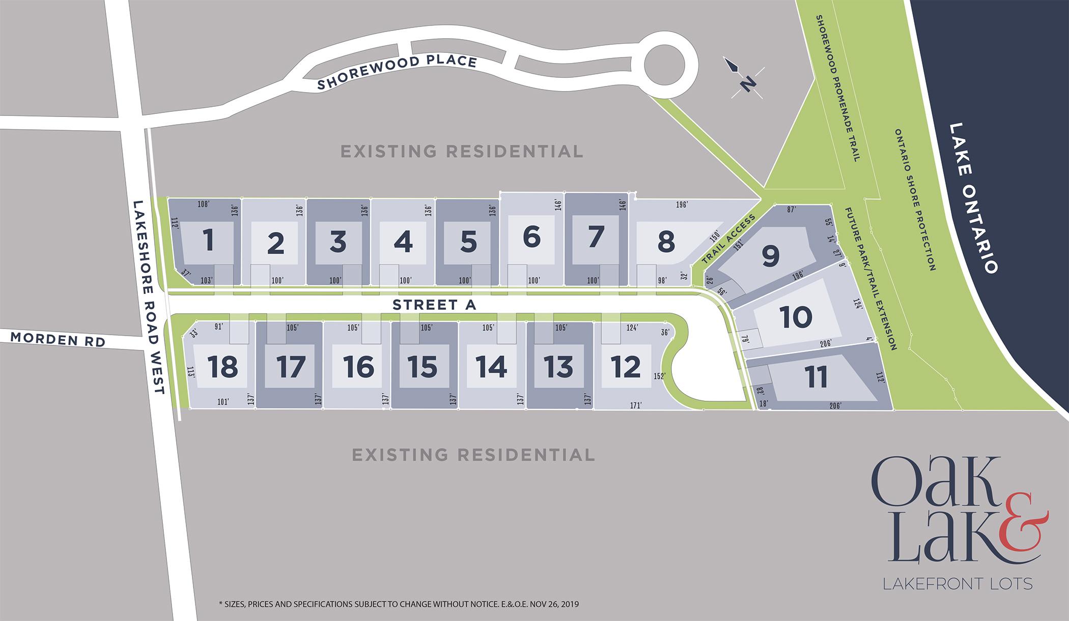 oak-and-lake-oakville-lakefront-homes-siteplan